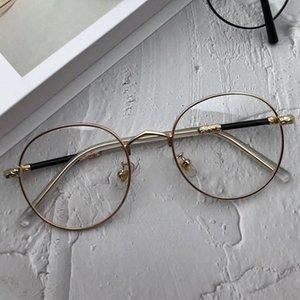 2020 Personalized fashion full-frame metal glasses frame black men's and women's anti-blue light frames creative mirror legs 9959