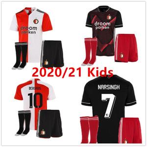 мужчины 20 21 дети Фейеноорд футбол Джерси наборы 2020 2021 KOKCU Berghuis FER JORGENSEN Сенези Home Away футболка комплект