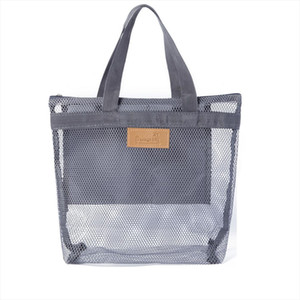 Portable Mesh Large Bags Makeup Organizer Cosmetic Beauty Toiletry Travel Bag Case Wash Casual Womens Neceser Pouch Tote Rpdsa