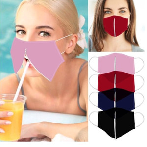 Chic Creative Zipper Face Masks Brand New Convenient Straw Mouth Mask Anti Dust Smog Designer Protective Mask