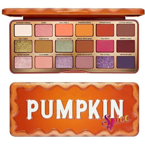2020 Christmas Limited TO FAC Eyeshadow Palette 18 Colors Makeup Orange Pumpkin Color Waterproof Lasting Eyeshadow Palette Free Shipping