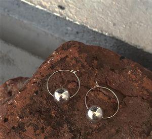 RUIYI reales plata de ley 925 mujeres forman el agua caída Cuentas pendientes del aro de Bellas mujeres amantes de la joyería regalos elegantes pendientes de nicho