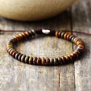 Men Bracelet Disc Shape Stone Friendship Bracelets Handmade Mens Beads Punk Bracelet Couples Bracelets Jewelry Dropship Y200918