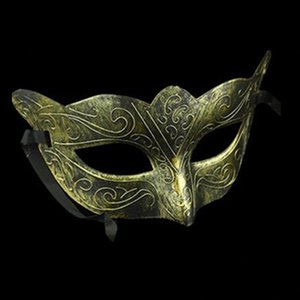 Party Jazz Horror Retro Flat Halloween Head Mask Antique Half Face Decoration Men Style Red Masks for Masquerade Ball Beauti Lgrk#