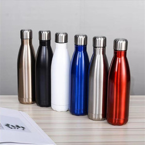 18 Styles 17oz Cola Bottle Stainless Steel Double Wall Vacuum Insulated Tumbler Outdoor Portable Sports Water Cup