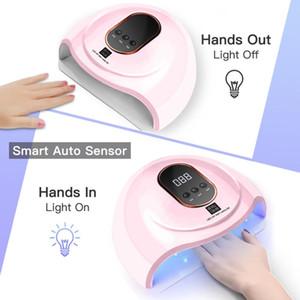 54W UV LED Nails Dryers Nail Lamp Drying Lamp For Curing UV Gel Nail Polish With Motion Sensing LCD Digital Display