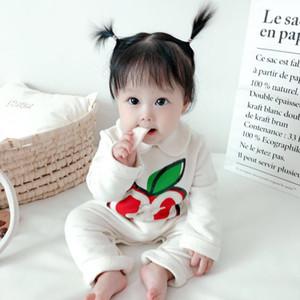 2020 Bebek Giysileri Sonbahar Yenidoğan Bebek Tulum Nervürlü Çocuk Tulum Yeni Doğan Erkek Giysileri Kız Toddler Romper