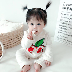 2020 Säuglingskleidung Herbst Neugeborene Baby Strampler Rippen Kinder Jumpsuit Neugeborene Jungen Kleidung Mädchen Kleinkind Strampler