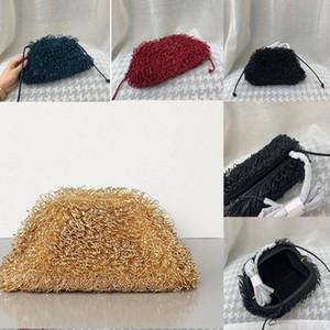 2020The esponja saco de couro Envelope ombro Luxo Bolsas Mulheres Designer Voluminous Rodada bolsas forma e Bolsas Dumpling Nuvem pacote phLN #