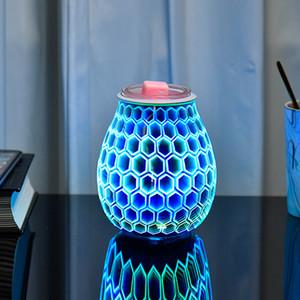 Mosaic Electric Oil Burner Wax Melt Burner Warmer Melter frangrance oil for Home Office Bedroom Living Room Yoga Gift
