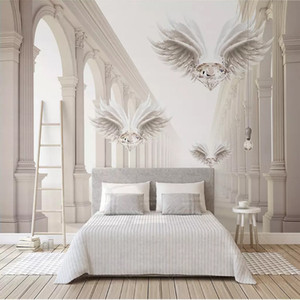 3D photo wallpaper space Roman column diamond wings large mural painting living room bedroom background home decoration wall covering