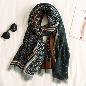 Kadınlar Leopard Dot Patchwork Fringe Viskon Şal Eşarp İspanya Printe Paşminalar Snood Bufandas Müslüman Sjaal