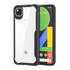 Прозрачный чехол жесткий ПК + мягкий бампер TPU усиленный угловой угловой уставной крышкой для Google Pixel 4a Pixel 5 XL Pixel 3A XL Google 3