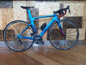 الأزرق Colnago Concept Chrd Carbon Road دراجات الدراجات مع الأصلي R7010 Groupset + 38mm كربون الطريق العجلات أقفاص زجاجة سوداء
