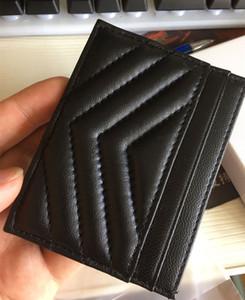 Держатель Черный Золото Серебро Париж Держатели стиль Дамы кожа карты Мода Мужчины Женщины Тонкий банк ID Card Case овчины Кредитные карты с коробкой