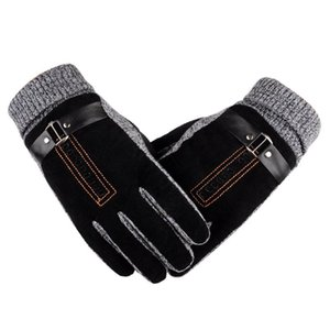ROSICIL 2020 Winter Spring gloves Fashion cloth Gloves Big stretch cotton Men wrist plush comfortble Men