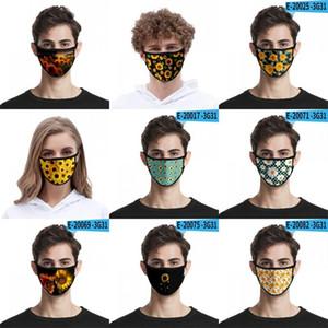 Fashion Personality Gauze Mask 3D Digital Printing Sunflower Hanging Masks Sreusable Washing Resistance Facemask Elastic Fabric 2 2mlg B2