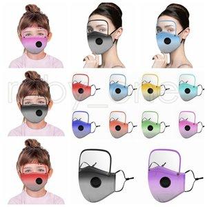 2 Çocuk Yetişkin RRA3554 için Çıkarılabilir Temizle Göz Kalkanı Gradyan Rengi toz geçirmez Yeniden kullanılabilir Bisiklet Koruyucu Yüz Maskeleri ile 1 Yüz Mask olarak