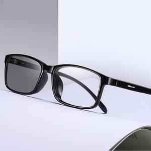 PhotoChromic Blocking Lenglasses Lunettes de vue Ordinateur pour lunettes pour hommes Verres Bleu Light Light Protection Blue Ray Filt Udebt