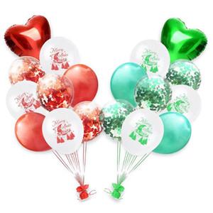 2020 neue Art und Weise 18PCS 12-Zoll-Weihnachtslatexballons Frohe Weihnachten Festliche Atmosphäre mit Weihnachtsdekorationen Dropship 9.13