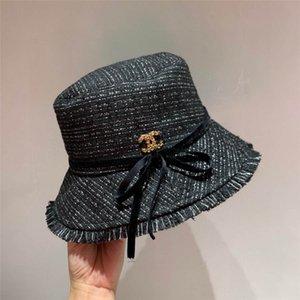 New Outono / Inverno Outono / Inverno alto grau de lã chapéu de pescador de lã com bowknot grão plinto estilo ladylike francês é um pouco pequena