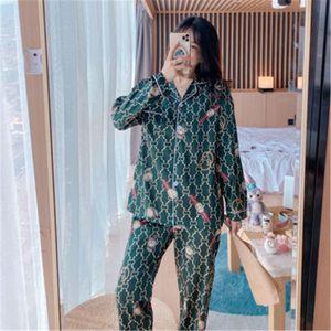 Luxury Couples Pajamas Men Women Sexy Satin Silk Pajama Pants Sets Summer Long Sleeve Pyjama Home Suit Lovers Flower Printed Sleepwear#648