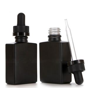 30ML 젖빛 유리 액체 시약 피펫 드롭퍼 병 스퀘어 정유 향수 병 연기 오일 E 액체 병
