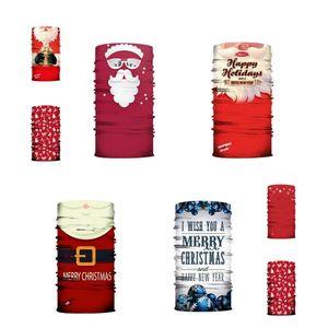 Christmas mask 3D digital printing Magic Scarf Santa Claus headband dust and haze face mask Designer Masks T2I51518