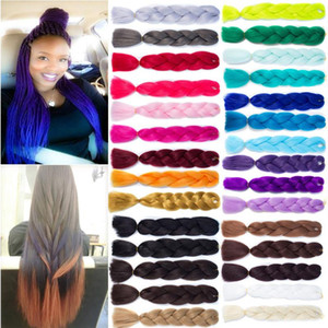 "24"" Ombre Dip Dye Kanekalon Jumbo Braid Hair Extensions Best Quality Fiber New"