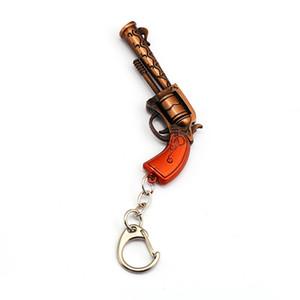 Hot Spiel Keychain Halter Metall Waffe Anhänger Gun Modell Zubehör Battle Royale Keyring für Männer Auto Revolver Spielzeug