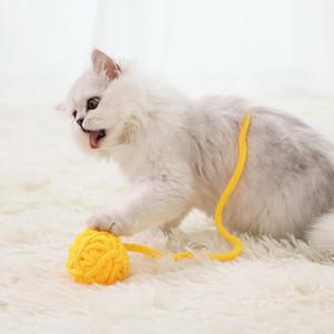 Cat Toy Cat Teaser Tetherball Molar Bite Wool Ball Kittens Kitten Own Play Pet Supplies Muppet