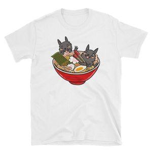 Scottish Terrier japonês Ramen Kawaii Camisa Terrier T escocês engraçado camisa do cão Scottie Camiseta