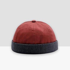 Autunno retrò da uomo urbano unico Via Docker cappelli multiuso Miki cappello del Beanie cotone senza tesa Skullies Cap