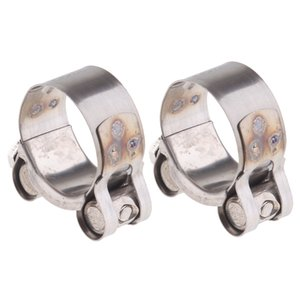 Motorcycle Exhaust Pipe Clamp Clip 32-35mm ( x 2 )