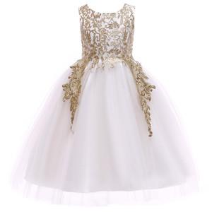 Prom Dress In Stock Birthday banchetti Prima Vestido De Comunion alta qualità applicazioni di pizzo per Childern abiti da sposa