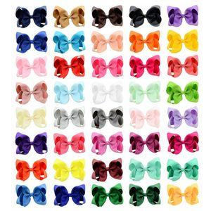 40 colores bebé de la cinta arco de la manera de la horquilla Clips niñas grande del Bowknot Barrette del pelo de los niños Boutique Arcos Accesorios navidad w-00206