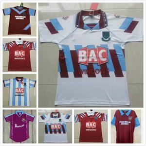 95 97 91 92 West Centenary Retro years Cole DI CANIO Lampard Dicks 1999 00 jersey camiseta 100 th Retro 99 00 Home Ham Retro soccer jersey