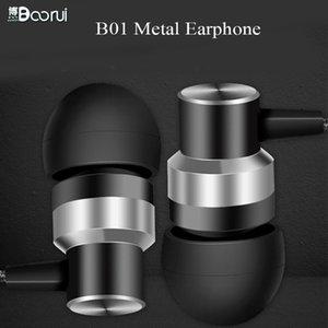BOORUI estéreo Auriculares B01 bajo estéreo de auriculares conector de 3,5 mm de manos libres para teléfonos inteligentes para