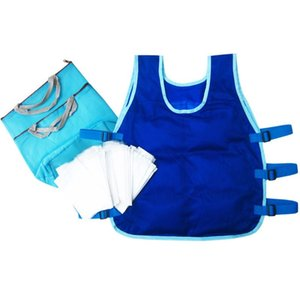Summer Cooling Vest With 24PCS Ice Packs And 2 Insulated Bag ICY Cooling Vest Heat Resistant Apron For Men and Women