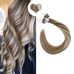 A Straight Loop Micro Ring Hair Human Micro Bead Links Machine Made Remy Hair Extensions 50g 14 -22 Inch