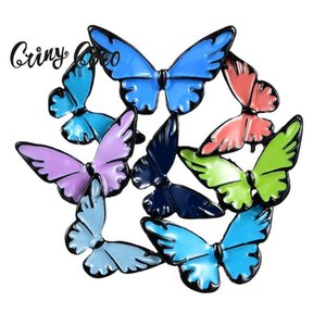 Cring Coco 2020 Best-Selling Zinc Alloy 8 Color Colorful Butterflies Brooch Ladies Gentlemen And Children Pins Collar Brooches