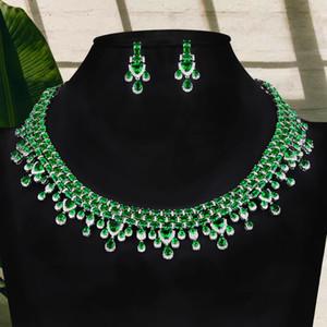 GODKI Luxury High End UAE Jewelry Sets For Women Wedding Necklace Earring Set Cubic Zircon Dubai Bridal jewelry Set 2020