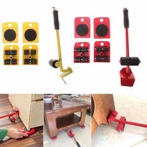 5PCS Furniture Mover Jeu d'outils de meubles Transport Lifter lourds Stuffs outil de transfert à roues Mover rouleau roue Barre __gVirt_NP_NNS_NNPS<__ Outils