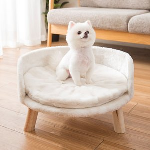 Pet Sofa Bed dog bed Autumn And Winter Soft Fur Cat Kennel Removable And Washable Mat Pets Supplies