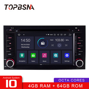 TOPBSNA Octa cores 4G+64G Android 10 Car DVD Player For Seat Leon 2014 2020 2020 WIFI GPS Navi Stereo 2 Din Car Radio Video