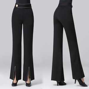 2020 New Professional Modern Ballroom Salsa Tango Rumba Samba Cha Cha Latin Dance Pants Black Dance Trousers For women
