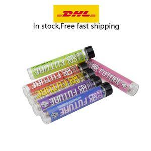 20/20 FUTURO Pre-tubo enrollado articulaciones Blunt etiqueta superior del envase de cristal etiqueta de envasado comestible en stoct envío rápido libre