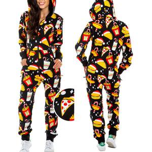 Senyu Noël pyjama une pièce pyjama femmes automne et imprimé bonhomme de neige d'hiver à capuchon service à domicile jumpsuit nouveau