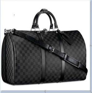 Louis Vuitton   Uomo Sport Gym Bag PU Training Pelle Borsa a tracolla Duffle Borse Scarpe Sneakers indipendenti Pocket bagagli Borse fitness borsa da viaggio SE35