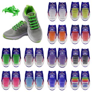 Unisex No Tie Shoelaces for Kids and Adults Pack Of 16pcs Silicone Shoelaces For Sneakers Shoes Laces Solid Lazy Shoe Laces 2020